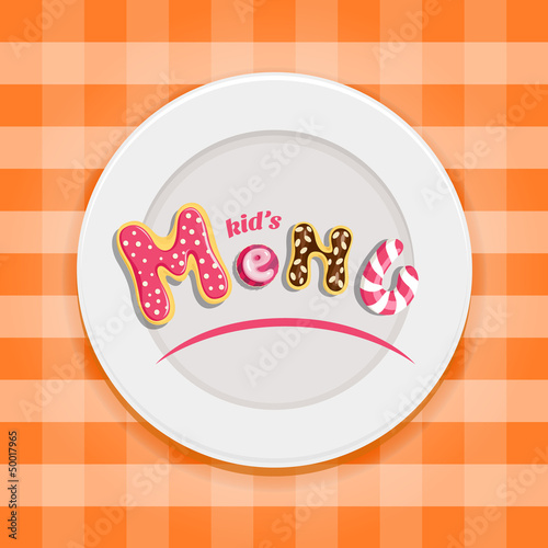 Kid's menu design