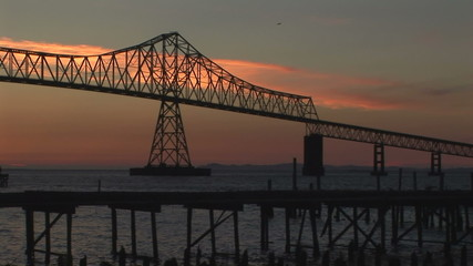 Astoria bridge at dusk, Oregon