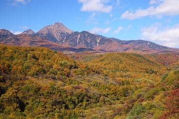 Mt. Yatsugatake in autumn, Japan