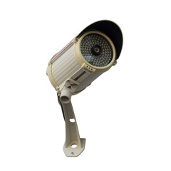 CCTV or security camera isolated over white background
