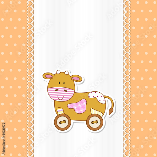 Baby Cow - Mucca - Place your text