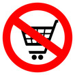 No shopping sign