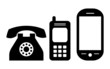 Phone icons, vector illustration - 50021171