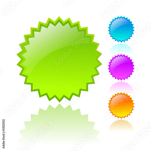 Vector coloured price stars
