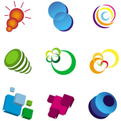 Set of Business & Technology Logo Elements