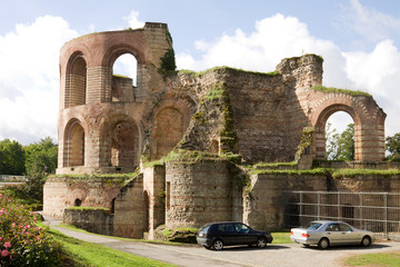 The ruins of Imperial thermae in Trier, Germany