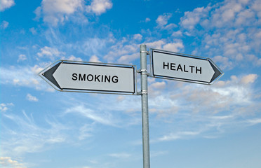 Road signs to smoking and health