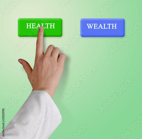 Buttons for health and wealth