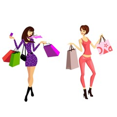 women who shop with credit card