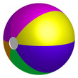 Vector illustration of colorful beach ball