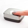 Finger on a biometric scanner