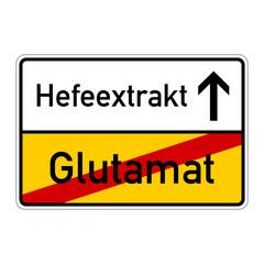 ortsschild glutamat hefeextrakt I