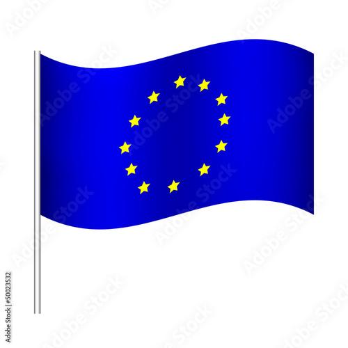 Vector illustration of europe union flag