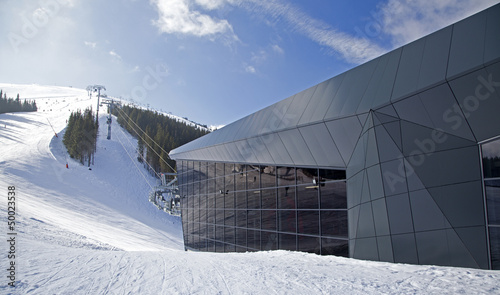 Modern cableway FUNITEL on hill Chopok - Low Tatras, Slovakia