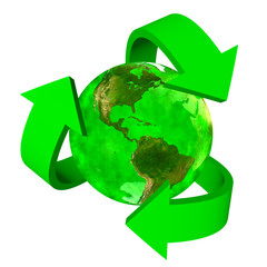 Green Earth eco symbol - America