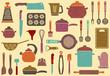 Background with kitchen ware - 50024153