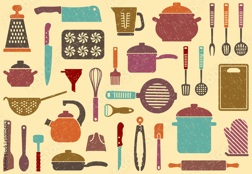 Background with kitchen ware - 50024153
