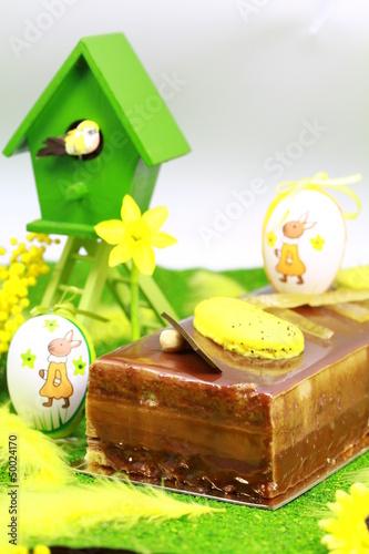 dessert de pâques et son nid