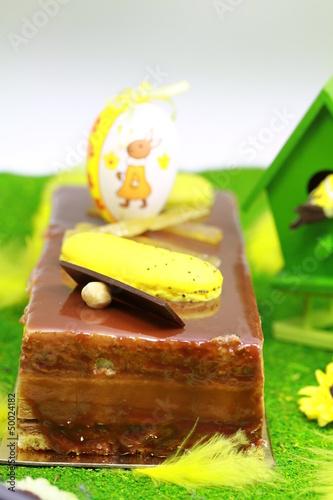 dessert de pâques au chocolat