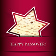 Vector Passover card with matza (Star of David shape)