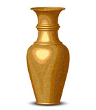 Vector illustration of golden shiny vase