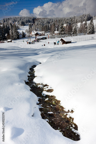 Czech Republic - Bedrichov in winter - mountains Jizerske hory