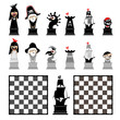 Chess Board chessmen