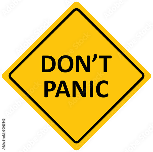 "Sign ""don't panic area"", vector"