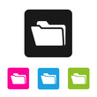 Folder icon - vector colored rounded square shape