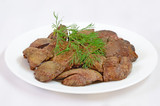 Cooked chicken liver