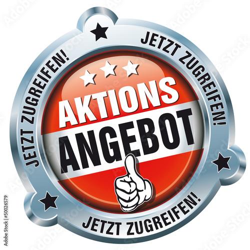 Button - Aktions Angebot - Jetzt zugreifen!