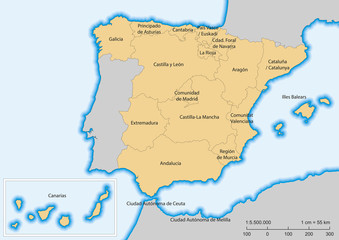 Spain map Autonomous communities