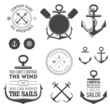 Set of nautical labels, icons and design elements - 50027137