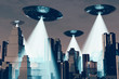 Ufo Invasion over Metropolis