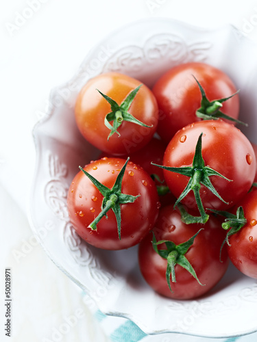 Cherry tomatoes in a bowl