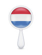 Loupe with dutch flag.