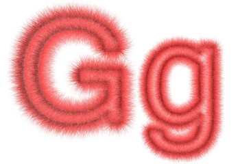 """Symbol """"G"""" from wool"""