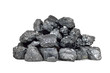Pile of coal isolated on white