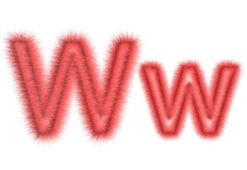 """Symbol """"W"""" from wool"""