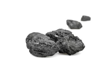 Coals on white background