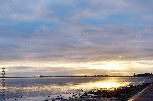 Sunset at Roosebeck, Morecambe Bay.
