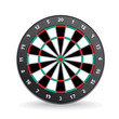 Darts Board Vector Image Isolated on White.