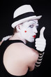 Theater actor with mime makeup