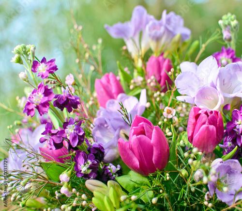 Frühlingserwachen: Blütentraum in lila und pink