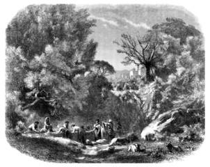 Lavandières - Trad. Washerwomen - 19th century