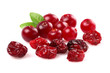 Dried and fresh cranberry