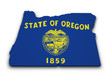Oregon Flag Map Shape