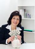 Money mature businesswoman
