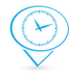 horaire sur signet bleu