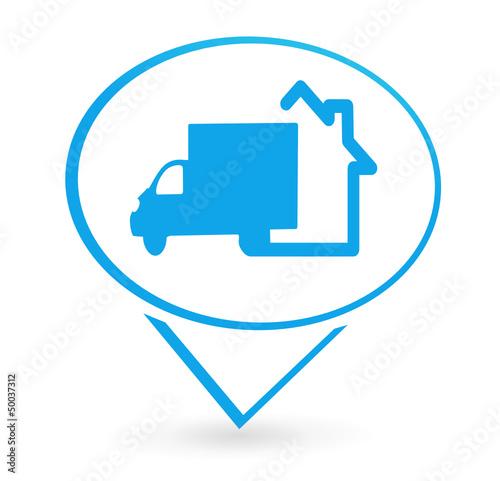 livraison domicile sur signet bleu de ainoa fichier vectoriel libre de droits 50037312 sur. Black Bedroom Furniture Sets. Home Design Ideas